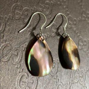 🖤Mother of pearl silver earrings